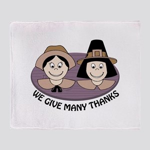 Give Many Thanks Throw Blanket